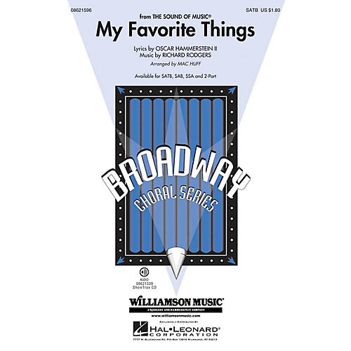 Hal Leonard My Favorite Things (from The Sound of Music) 2-Part Arranged by Mac Huff