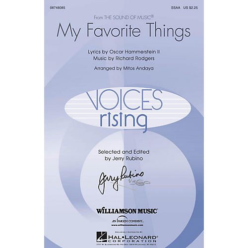 Hal Leonard My Favorite Things (from The Sound of Music) SSAA arranged by Mitos Andaya