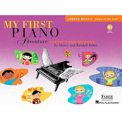 Faber Piano Adventures My First Piano Adventure Lesson Book C (Skips On The Staff) - Faber Piano