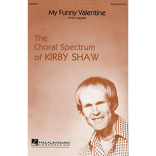 Hal Leonard My Funny Valentine SATB a cappella arranged by Kirby Shaw