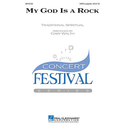 Hal Leonard My God Is a Rock SATB a cappella arranged by Gary Walth