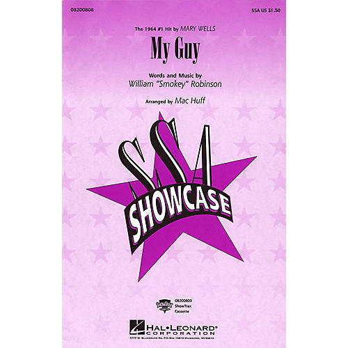 Hal Leonard My Guy SSA by Mary Wells arranged by Mac Huff