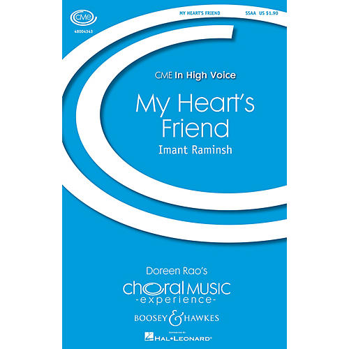 Boosey and Hawkes My Heart's Friend (from Songs of the Lights, Set II) CME Intermediate UNIS/2PT composed by Imant Raminsh