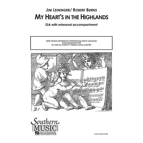 Hal Leonard My Heart's in the Highlands (Choral Music/Octavo Secular Ssa) SSA Composed by Leininger, Jim