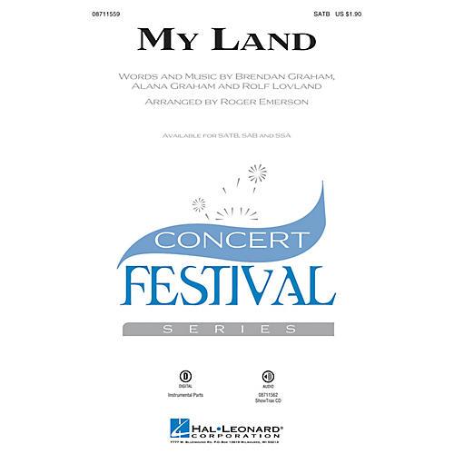 Hal Leonard My Land SATB arranged by Roger Emerson