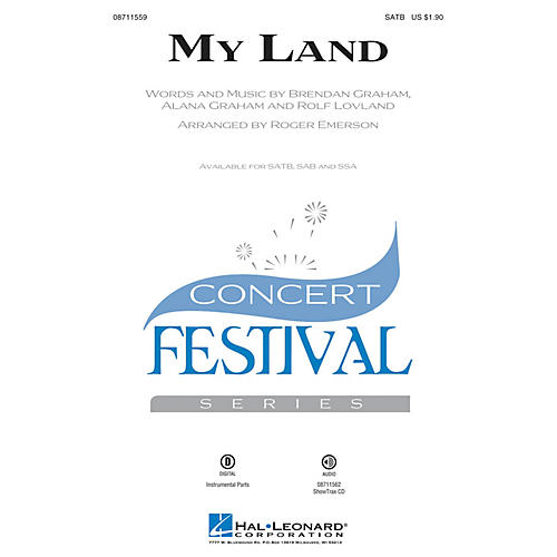 Hal Leonard My Land SSA Arranged by Roger Emerson