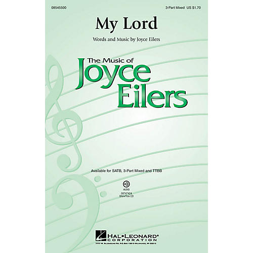 Hal Leonard My Lord 3-Part Mixed composed by Joyce Eilers