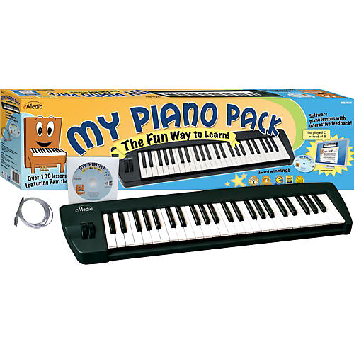 Emedia My Piano Pack MIDI Keyboard and Instructional CD-Rom
