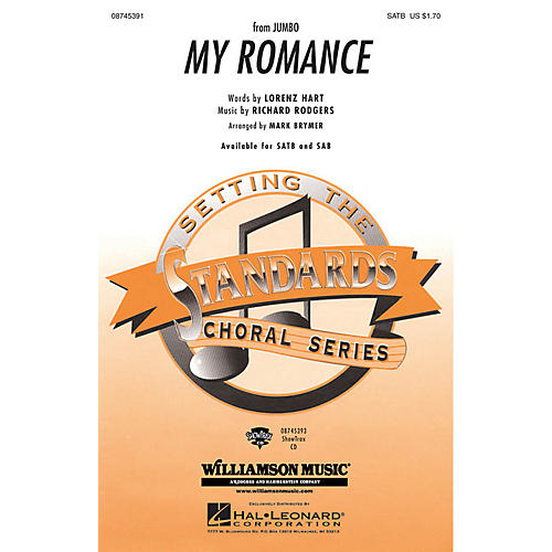 Hal Leonard My Romance SAB Arranged by Mark Brymer