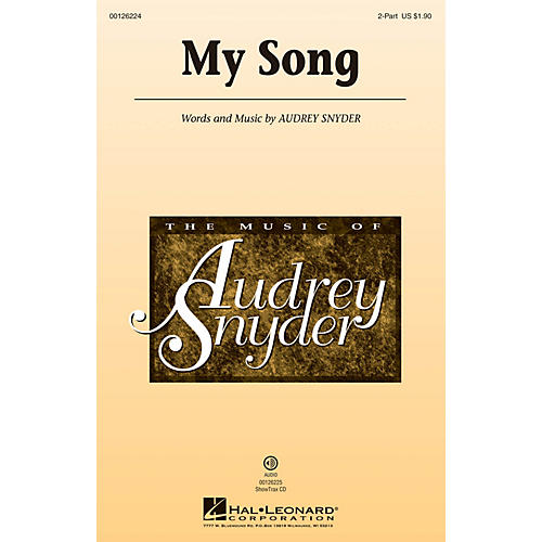 Hal Leonard My Song 2-Part composed by Audrey Snyder