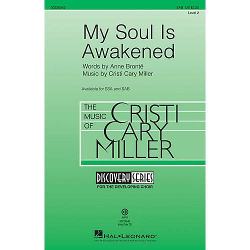 Hal Leonard My Soul Is Awakened (Discovery Level 2) SAB composed by Cristi Cary Miller