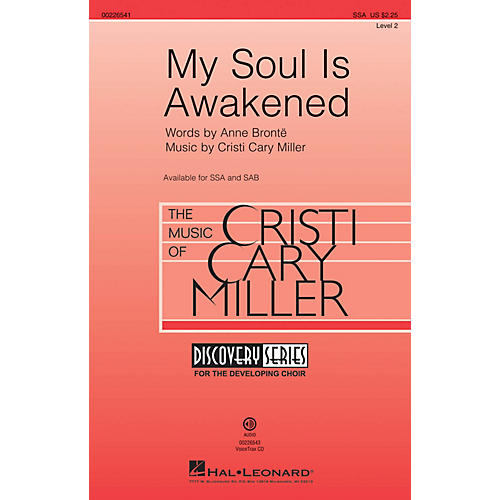 Hal Leonard My Soul Is Awakened (Discovery Level 2) SSA composed by Cristi Cary Miller