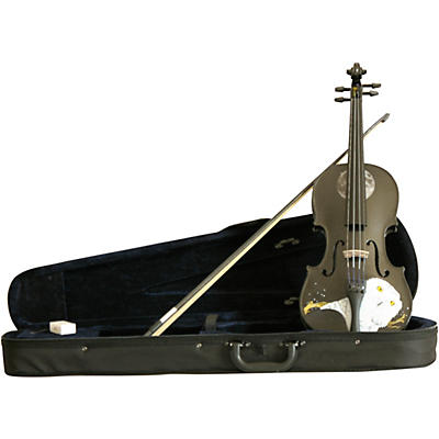 Rozanna's Violins Mystic Owl Black Glitter Series Violin Outfit