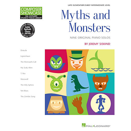 Hal Leonard Myths and Monsters Piano Library Series Book by Jeremy Siskind (Level Late Elem)