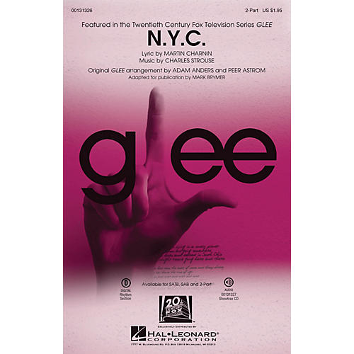 Hal Leonard N.Y.C. (from Annie) 2-Part by Glee Cast (TV Series) arranged by Mark Brymer