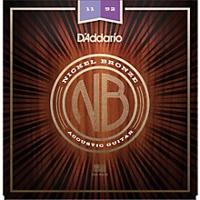D'Addario NB1152 Nickel Bronze Custom Light Acoustic Strings
