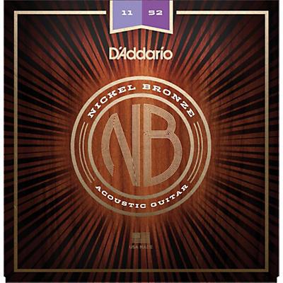 D'Addario NB1152 Nickel Bronze Custom Light Acoustic Strings