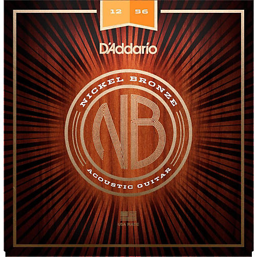 D'Addario NB1256 Nickel Bronze Light Top Med Bottom Acoustic Strings
