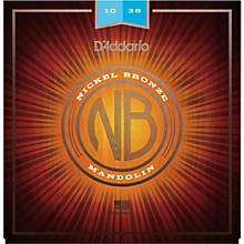D'Addario NBM1038 Nickel Bronze Light Mandolin Strings (10-38)