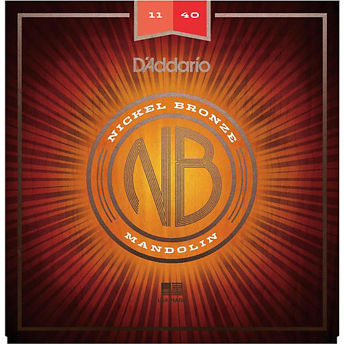 D'Addario NBM1140 Nickel Bronze Medium Mandolin Strings (11-40)