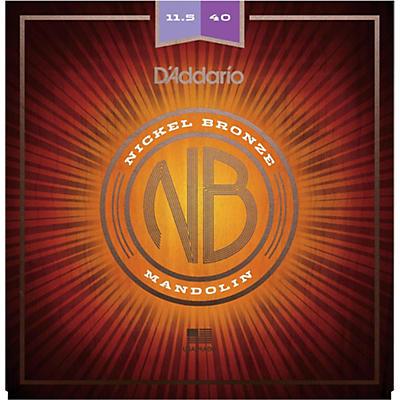 D'Addario NBM11540 Nickel Bronze Custom Medium Mandolin Strings (11.5-40)