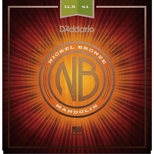 D'Addario NBM11541 Nickel Bronze Medium-Heavy Mandolin Strings (11.5-41)