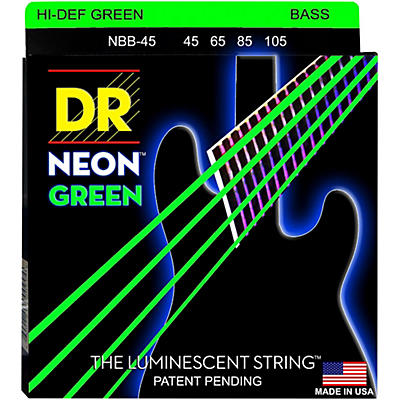 DR Strings NEON Hi-Def Green Bass SuperStrings Medium 4-String