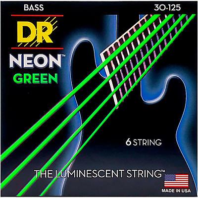DR Strings NEON Hi-Def Green Bass SuperStrings Medium 6-String