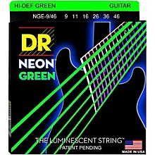Open Box DR Strings NEON Hi-Def Green SuperStrings Light Top Heavy Bottom Electric Guitar Strings