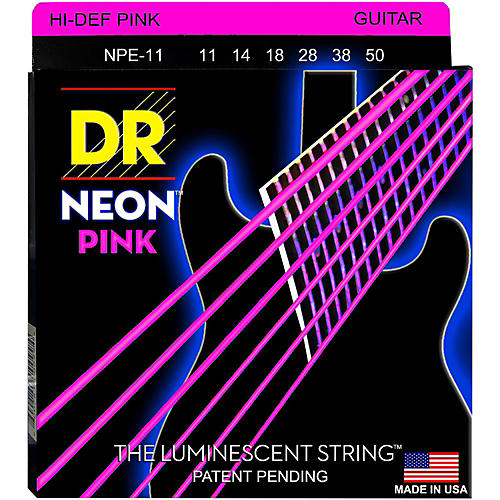 DR Strings NEON Hi-Def Pink SuperStrings Heavy Electric GUitar Strings