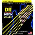 DR Strings NEON Hi-Def Yellow SuperStrings Light Top Heavy Bottom Electric Guitar Strings thumbnail