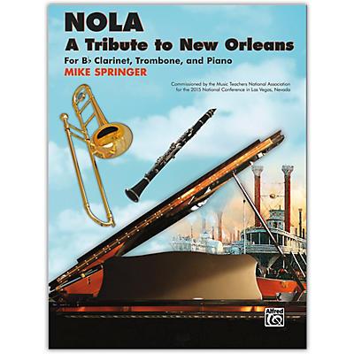 Alfred NOLA: A Tribute to New Orleans B-flat Clarinet, Trombone & Piano Late Intermediate