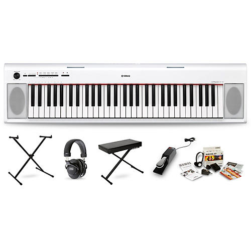 Yamaha NP-12 Portable Keyboard Package White