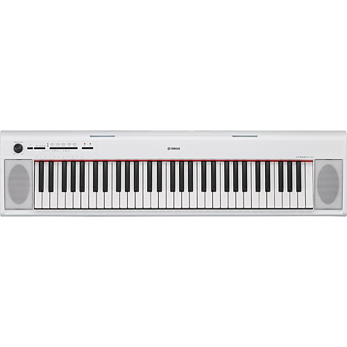 Yamaha NP12 61-Key Entry-Level Piaggero Ultra-Portable Digital Piano White