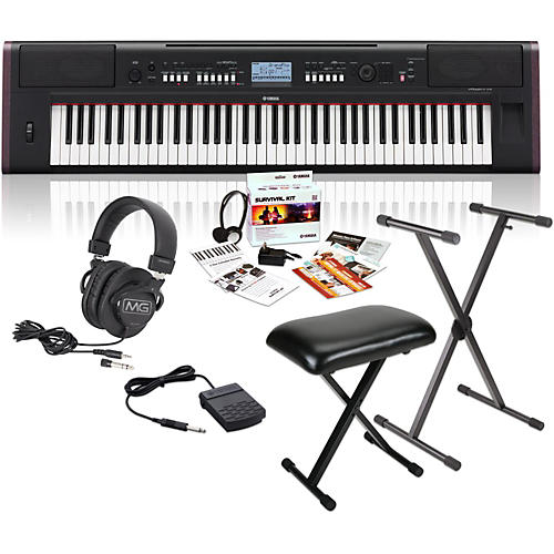 NPV80 76-Key Piaggero Portable Digital Pianowith Yamaha C2 Survival Kit, Stand, Bench, & Headphones
