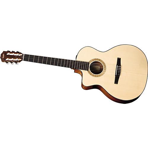 taylor ns24 ce g l grand auditorium left handed nylon string acoustic electric guitar musician. Black Bedroom Furniture Sets. Home Design Ideas