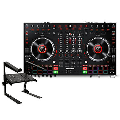 Numark NS6II DJ Controller with Laptop Stand