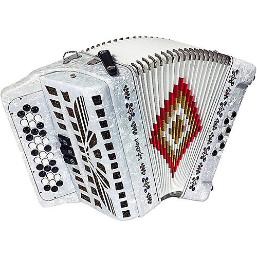 Sofiamari NSM-3412 34-Button 12-Bass Accordion GCF White Pearl