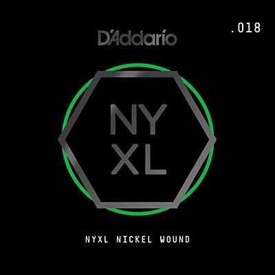 D'Addario NYNW018 NYXL Nickel Wound Electric Guitar Single String, .018