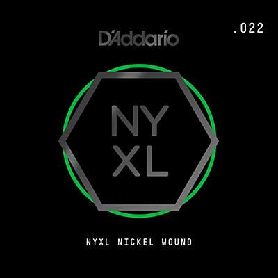 D'Addario NYNW022 NYXL Nickel Wound Electric Guitar Single String, .022