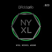 D'Addario NYNW023 NYXL Nickel Wound Electric Guitar Single String, .023
