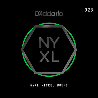 D'Addario NYNW028 NYXL Nickel Wound Electric Guitar Single String, .028
