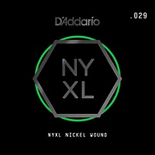 D'Addario NYNW029 NYXL Nickel Wound Electric Guitar Single String, .029