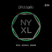 D'Addario NYNW034 NYXL Nickel Wound Electric Guitar Single String, .034