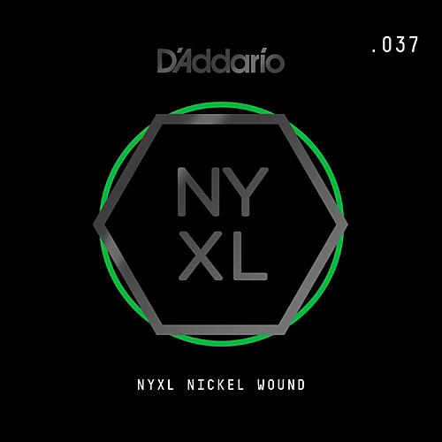 D'Addario NYNW037 NYXL Nickel Wound Electric Guitar Single String, .037