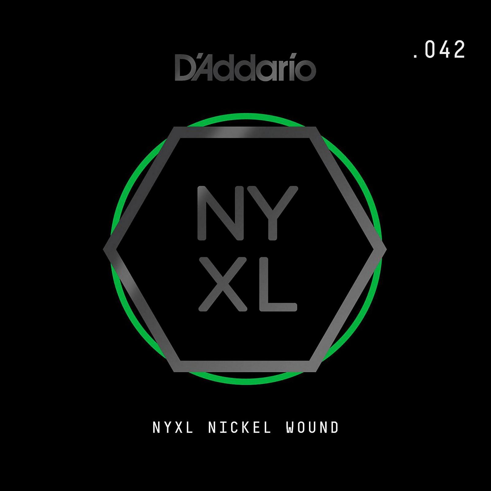 D'Addario NYNW042 NYXL Nickel Wound Electric Guitar Single String, .042