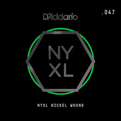 D'Addario NYNW047 NYXL Nickel Wound Electric Guitar Single String, .047
