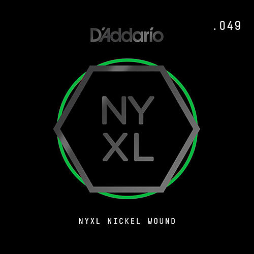 D'Addario NYNW049 NYXL Nickel Wound Electric Guitar Single ...