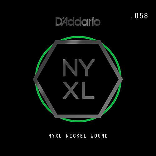 D'Addario NYNW058 NYXL Nickel Wound Electric Guitar Single String, .058