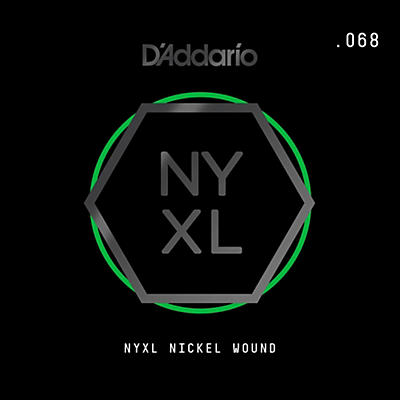 D'Addario NYNW068 NYXL Nickel Wound Electric Guitar Single String, .068
